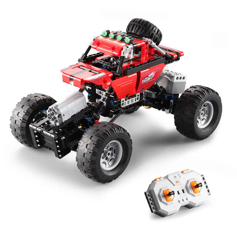 Cada Double E Electric Technic 489pcs 2 4ghz Remote Control Cross Country Climb Vehicle Construction