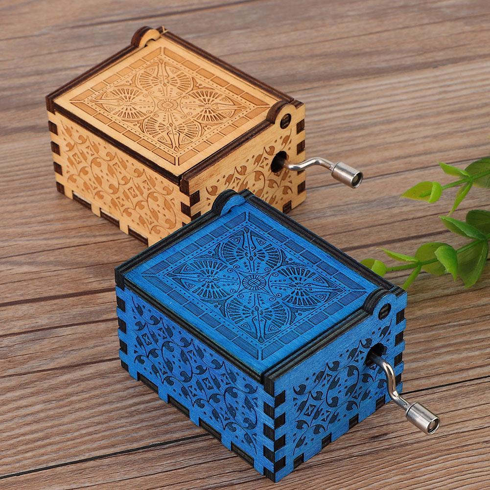 Home Decor Crafts Gifts: Beautiful Wooden Retro Music Box Handmade Wood Crafts