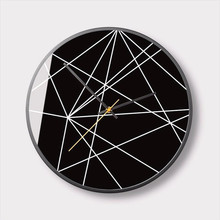 New 3D Wall Clock Abstract Geometric Quartz For Home 12inch/14inch Modern Design Silent Movement Watch