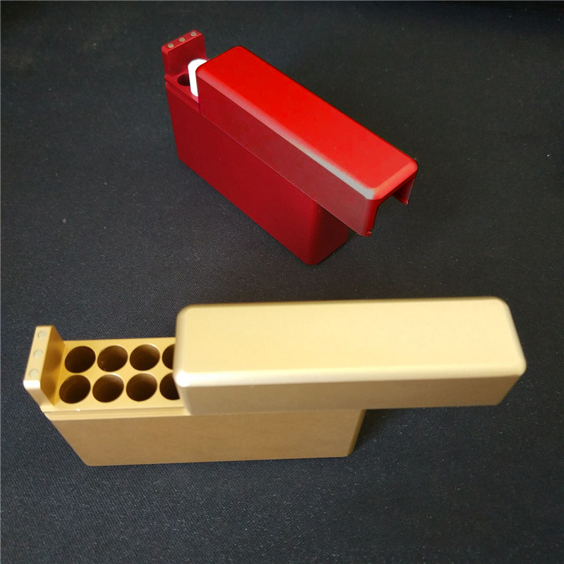Protective Sleeve Aluminum alloy Cigarette Case For Iqos 18 Holes Cigarette Storage Box Holder Red