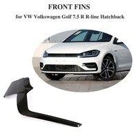 Carbon Fiber Bumper Fins Cover Protectors For VW Volkswagen Golf 7.5 R R Line Hatchback 4 Door 2pcs/Set 2017 2018