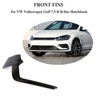 Carbon Fiber Bumper Fins Cover Protectors For VW Volkswagen Golf 7.5 R R Line Hatchback 4 Door 2pcs/Set 2017 2018