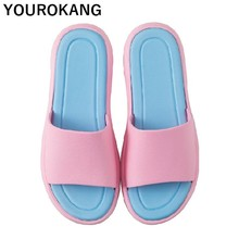 Indoor Home Slippers Unisex Couple Shoes Lovers Floor Plastic Bathroom Soft Comfortable Women Flip Flops Men Sandals
