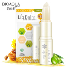 Bioaqua Natural Aloe Honey Moisturizing Lip Balm Colorless Refine Repair Wrinkles For Woman Winter Care Free Shipping