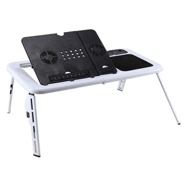Scrivania pieghevole per Laptop scrivania pieghevole per Computer tavolo da tavolo e table ventole di raffreddamento USB supporto TV vassoio 22.05x12.44 pollici