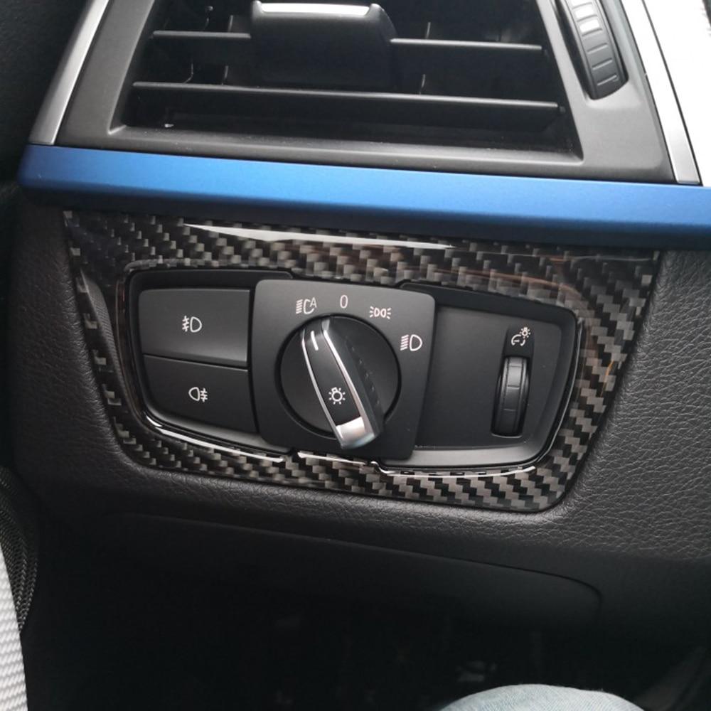 Car Styling Headlight Switch Button Decorative Frame Cover Trim Dashboard Molding Sticker for BMW F30 F31 F32 F33 F34 2012-2020