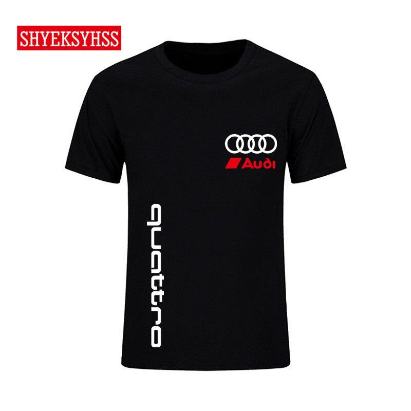 Men's   T     Shirt   quattro luxury car men's   shirt   casual fashion clothing brand car style Tshirt tops high quality   T  -  shirt   2019