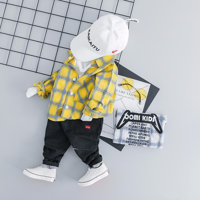 2019 Spring Baby Boys Clothing Toddler Children Clothes Suits Full Sleeve Plaid Shirt Pants 2pcs/sets Casual Kids Infant Costume By Scientific Process