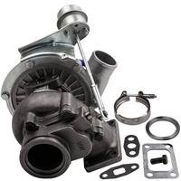 T04E T3 T4 .63 A/R 44 Trim Turbo Charger Compressor 400+HP Stage III Wastegate V band Oil Cool Universal Turbocharger 420Bhp+