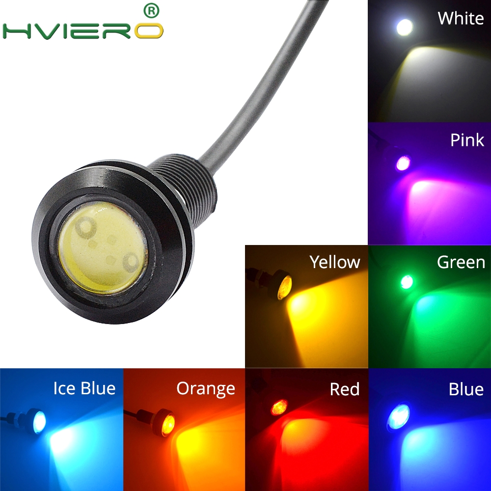 White Red Blue yellow 18mm 9w DC 12V Led Eagle Eye Light Daytime Running Drl Backup Car Motor Parking Signal Lamps Waterproof cyan soil bay 2pcs white 12 4014 smd led eagle eye motorcycle car parking fog backup light drl lamp 23mm