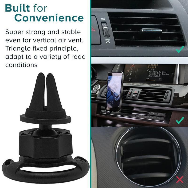 Car Mount Clip Air Outlet 360 Degrees Rotation Portable Cross-shaped Clip Airbag Bracket For Pop Stand Socket