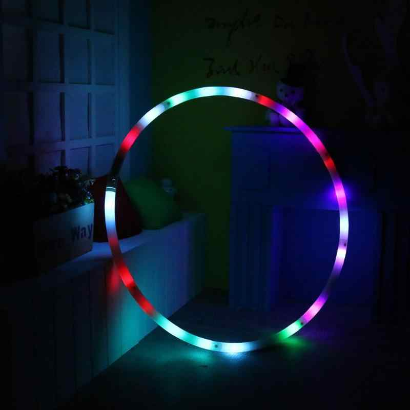Changing Light Fitness Circle LED Rechargable Loose Weight Toy Holiday DIY Decor for Adults and Kids 8 Section Detachable Design