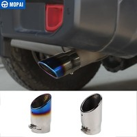MOPAI Car Mufflers for Jeep Wrangler JL Rear Tail Exhause Pipe Stainless Steel Car Exhaust Tip Tube for Jeep Wrangler 2018