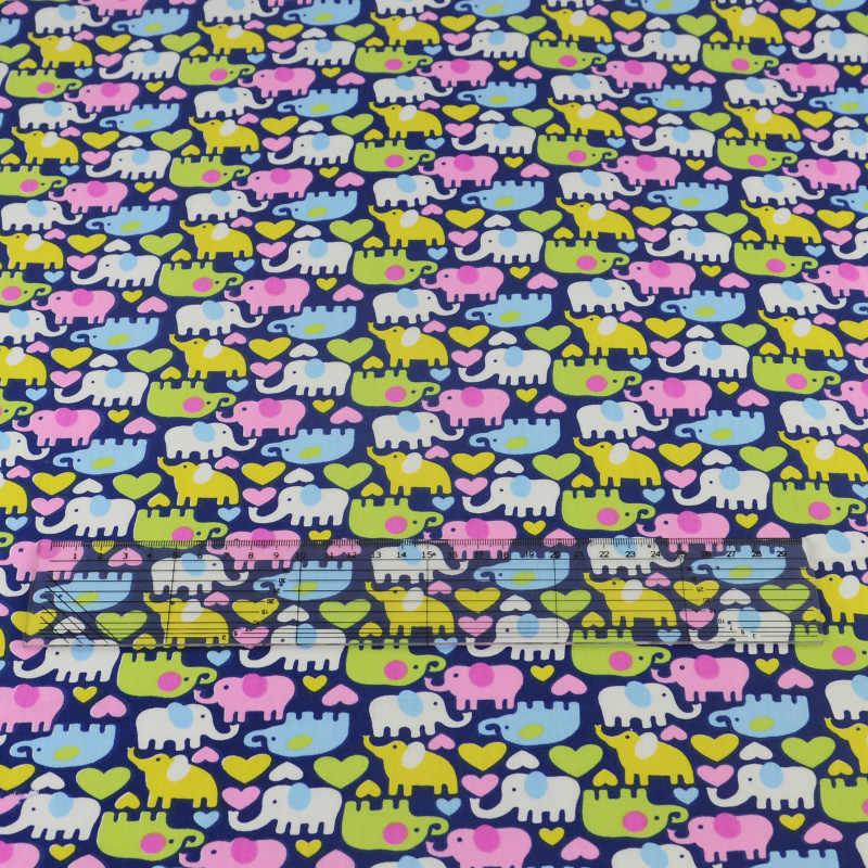 Booksew Dark Blue Elephant Projeto Tecido de Algodão Costura Quilting Patchwork Scrapbooking Tecido Têxtil de Casa Cama Sarja Pano