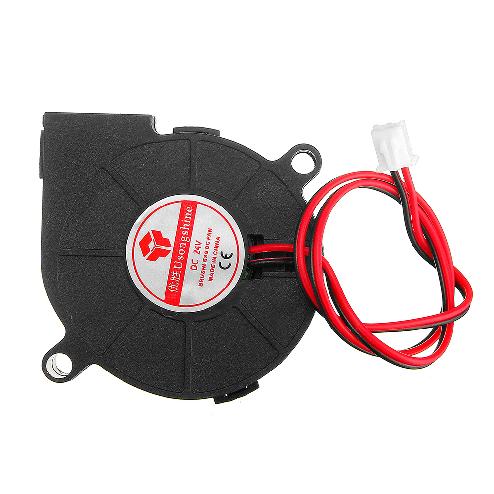 24V 0.15A 5015 Sleeve Brushless Turbo Cooling Fan With 2Pin XH2.54 Wire For 3D Printer