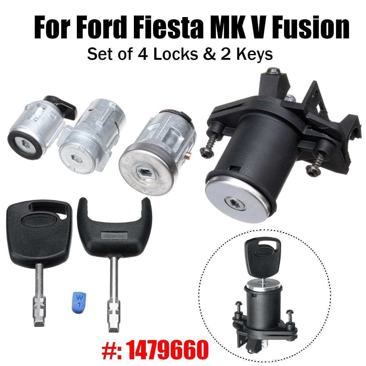 1 комплект ствол зажигания двери замка с 2 ключами 1479660 для Ford/Fiesta MK V Fusion Переключатели и рычаги для авто      АлиЭкспресс