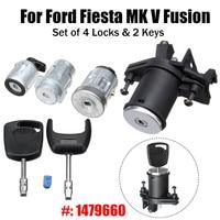 1 Set Lock Door Ignition Barrel w/ 2 Keys 1479660 For Ford/Fiesta MK V Fusion