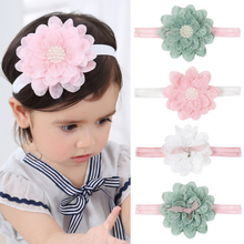 LNRRABC Cute new Baby hair bow flower Headband ribbon Handmade DIY accessories for  toddlers accesorios para el cabello