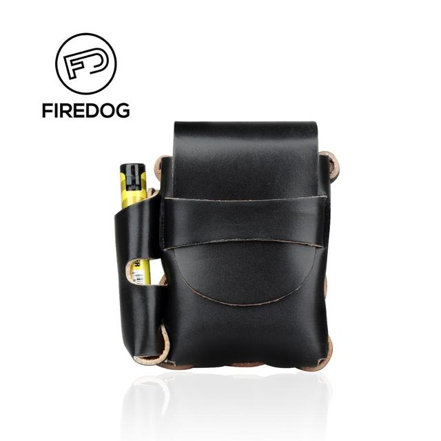 547e2408d6d24 FIREDOG Smoking Cigarette Case Leather Cigarette Box Holder with Lighter  Vintage Slim Tobacco Belt Cigarette Accessories Pouch