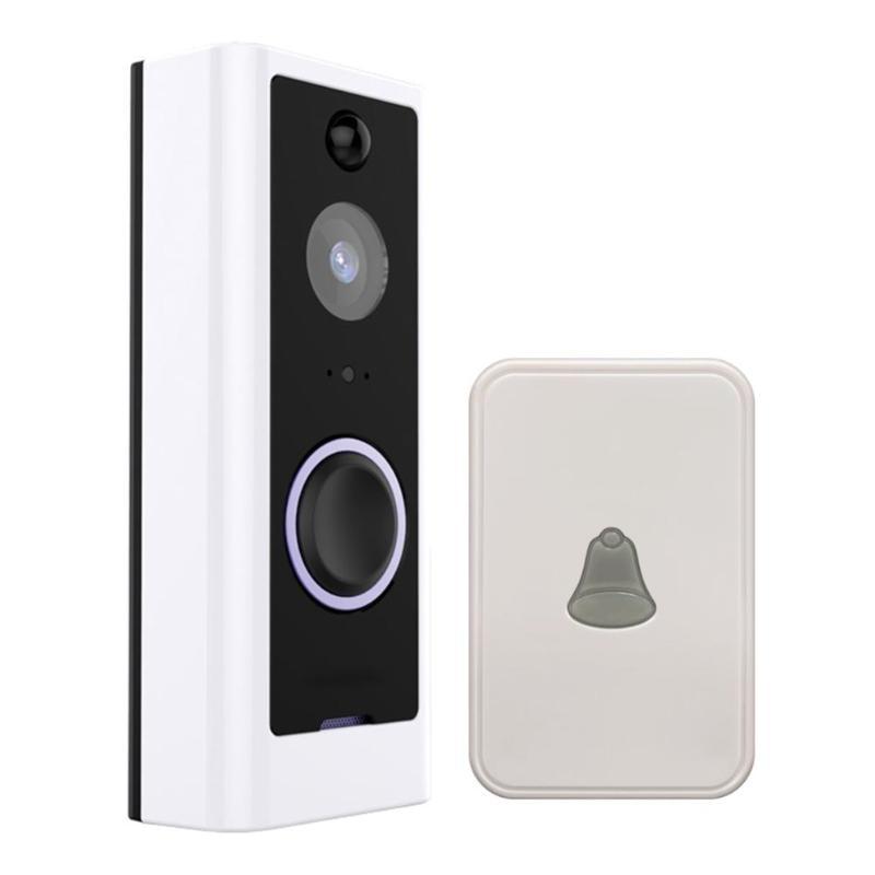 Smart Wireless WiFi Security Eye Door Bell Visual Recording Remote Home Monitor Night Vision Video Intercom Phone Call Doorbell