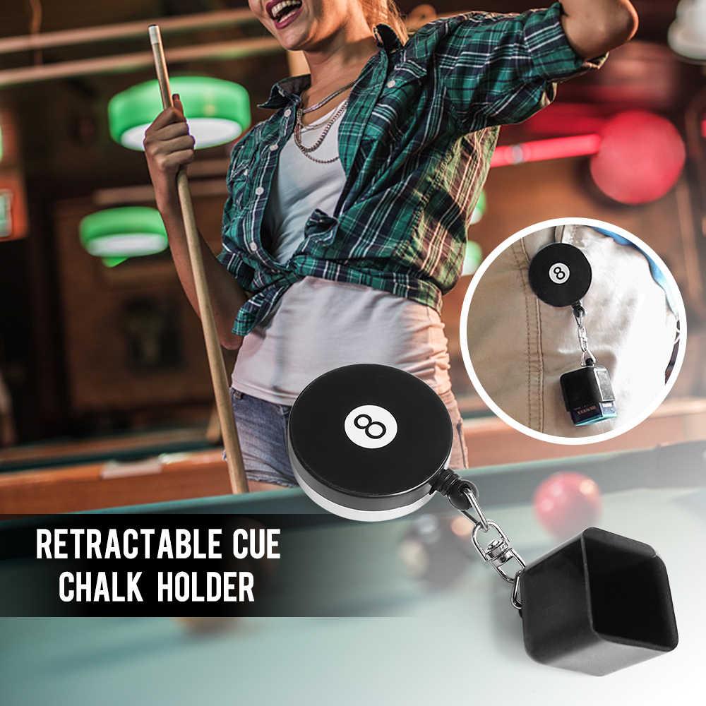 Kij bilardowy kreda z klipsem chowana podstawka na kredę Cue Clip Snooker bilard podstawka na kredę Snooker i akcesoria bilardowe