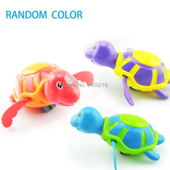 Cute Cartoon Animal Tortoise Hippocampus Classic Baby Water Toy Infant Swim Turtle Wound-up Chain Clockwork Kids Beach Bath Toys 1