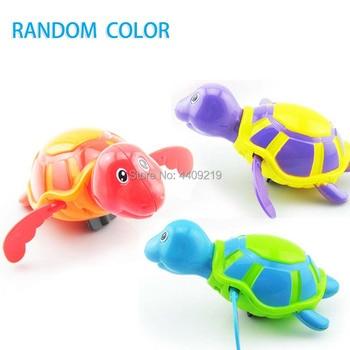 Cute Cartoon Animal Tortoise Hippocampus Classic Baby Water Toy Infant Swim Turtle Wound-up Chain Clockwork Kids Beach Bath Toys 1