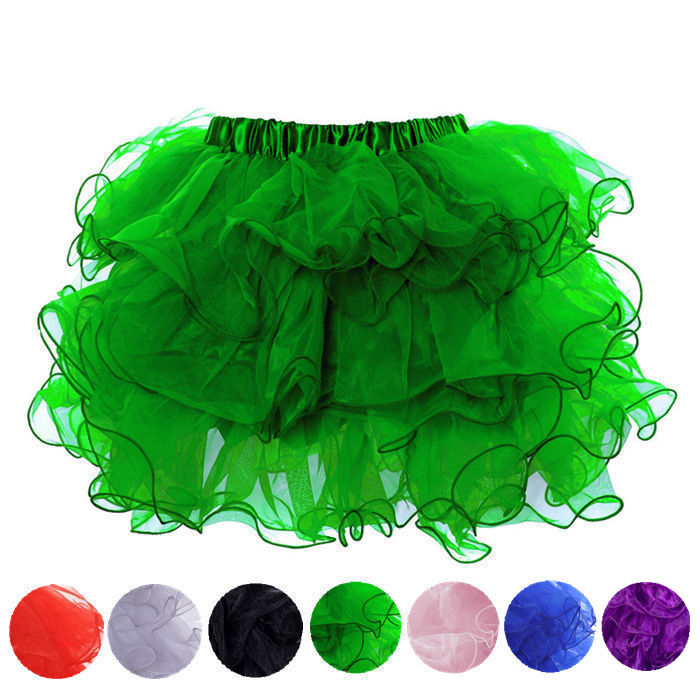 Hot Gothic Layered Ruffles Organza Tutu Skirt Petticoats Underdress Dance Wear
