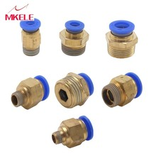 Straight Push In Fitting Pneumatic  4-12mm OD Hose Tube 1/8 1/4 3/8 1/2 Male Thread Connector Pneumatic Fitting PC Series blcak high quality pc 10mm 1 8 1 4 3 8 1 2 thread male straight pneumatic tube push in quick connect fittings pipe