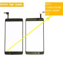 10Pcs For Alcatel One Touch Idol 4 LTE OT6055 6055 6055P 6055Y 6055B 6055K Touch Screen Panel Sensor Digitizer Front Outer Glass стоимость