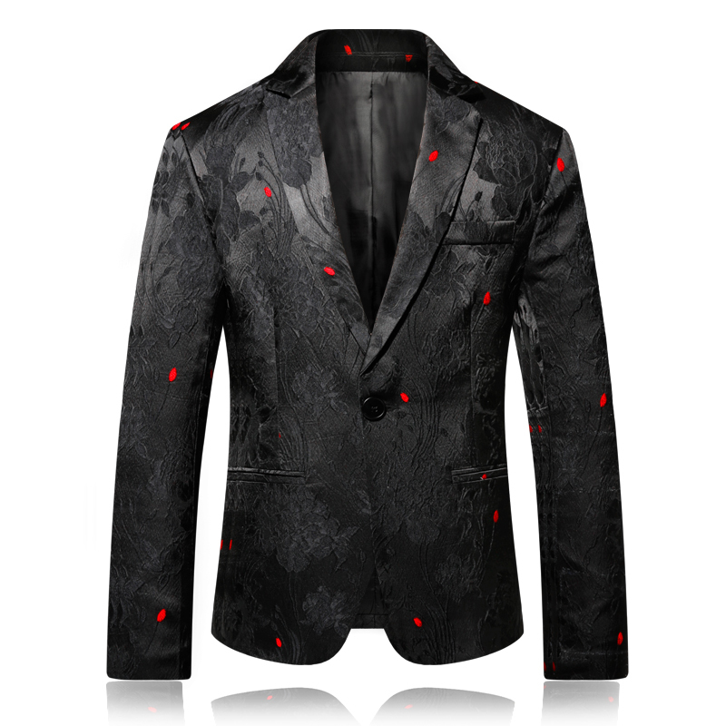 2019 New Brand Plus Size 4XL Fashion Mens  Blazer Floral Men Jacket Mens Flower Blazer Designer Business Stage Cloth For Men