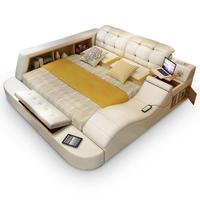 За La Casa набор Letto Matrimoniale Bett Ranza Recamaras современные Dormitorio кожа Mueble мебель для спальни Moderna Кама кровать