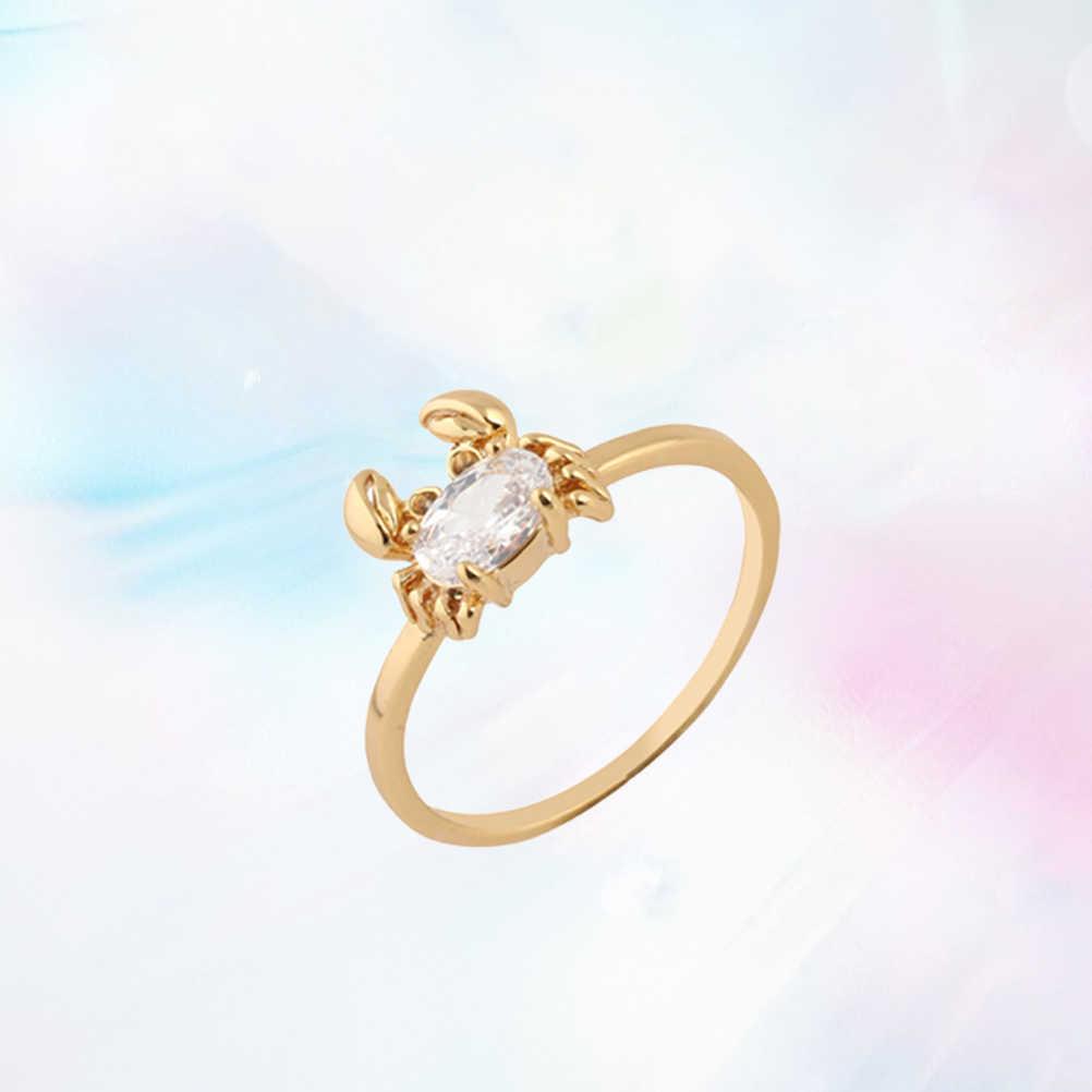 ผู้หญิงใหม่ Cubic Zirconia คริสตัลแหวนเจ้าสาวหมั้นปูรูปร่างแหวนสำหรับครบรอบงานแต่งงานวันวาเลนไทน์