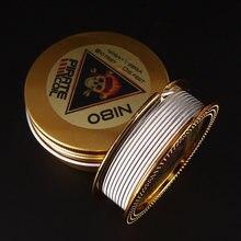 Bobina de pirata ni80, pirata, 3 núcleos, clapton, aquecimento, para cigarro eletrônico 3m 40ga + 3*3 *