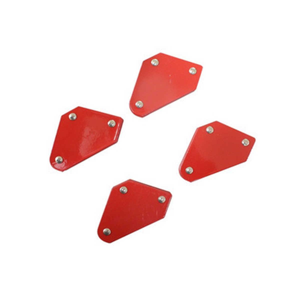 4 unids/lote 4 imán de soldadura magnético soporte cuadrado abrazadera de flecha 45 ° 90 ° 135 ° 9LB abrazadera magnética para herramientas eléctricas de hierro de soldadura