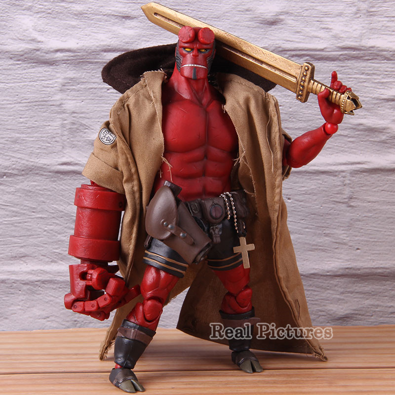 1000 Toys Hellboy Dark Horse Action Figure Hellboy 1/2 Scale PVC Collectible Model Toy image