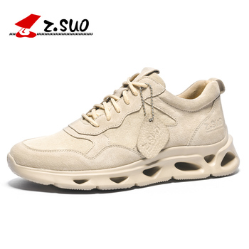ZSUO Brand Fashion Sneakers Men Shock-absorbing Sole Men's Shoes Casual High Quality Microfiber + Breathable Canvas Shoes Men