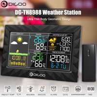 DIGOO DG TH8988 Color Weather Station + Outdoor Remote Sensor Thermometer Hygrometer Snooze Clock Sunrise Sunset Display
