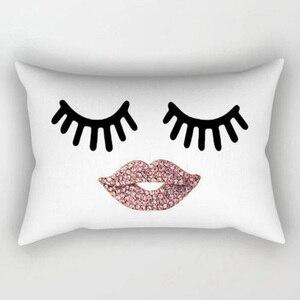 Image 5 - Marka Yeni Stil Yaratıcı Kirpik Polyester Yastık Kılıfı Bel Atmak Ev Dekor