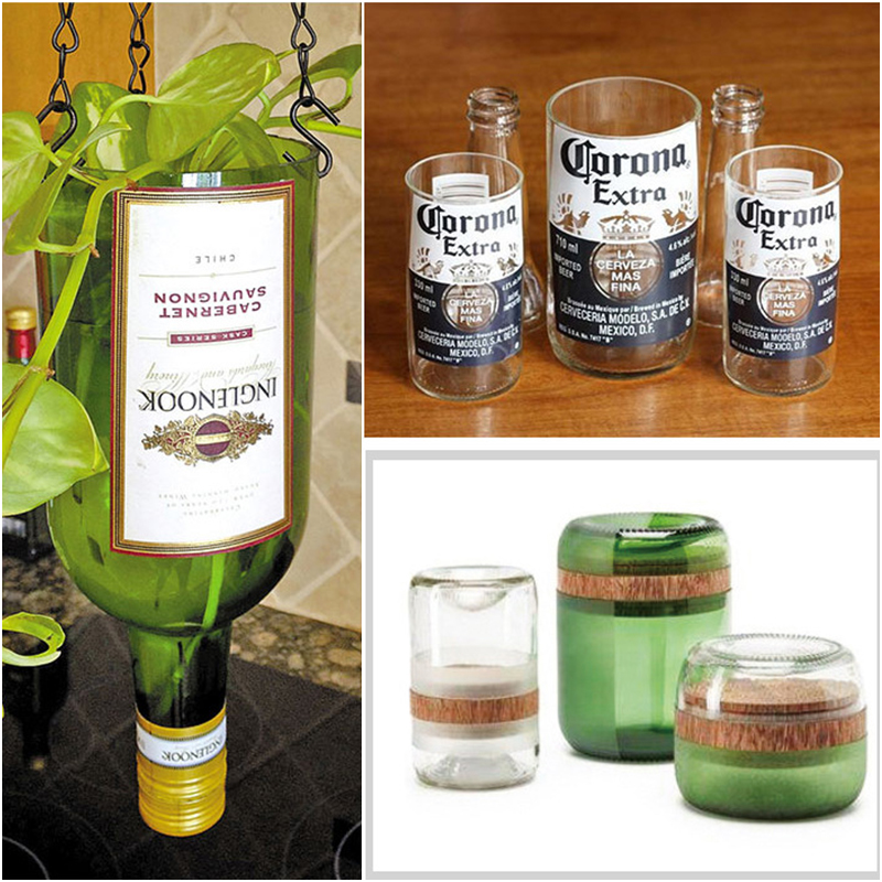 Glass Bottle Cutter Stainless Steel Glasses Bottle Slicer Cutter Tool Professional Bottles Cut Tool Stained Glass Tools