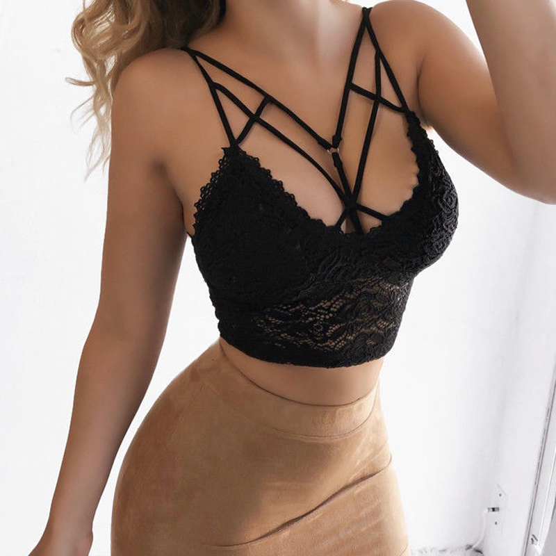 Women Sexy Lace Casual Tank Top Sleeveless Summer Crop Tops Camis Plus Size Mujer Femme
