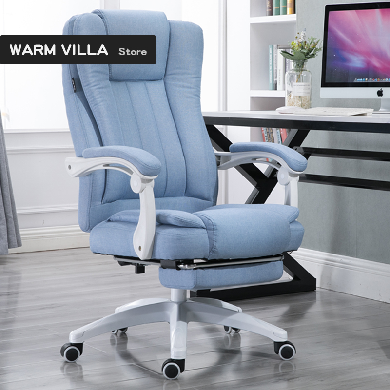 European Fabric Art Home Computer Can Lie Staff Member Meeting Cowhide Boss Genuine Leather Massage Chair Bow To Work In An