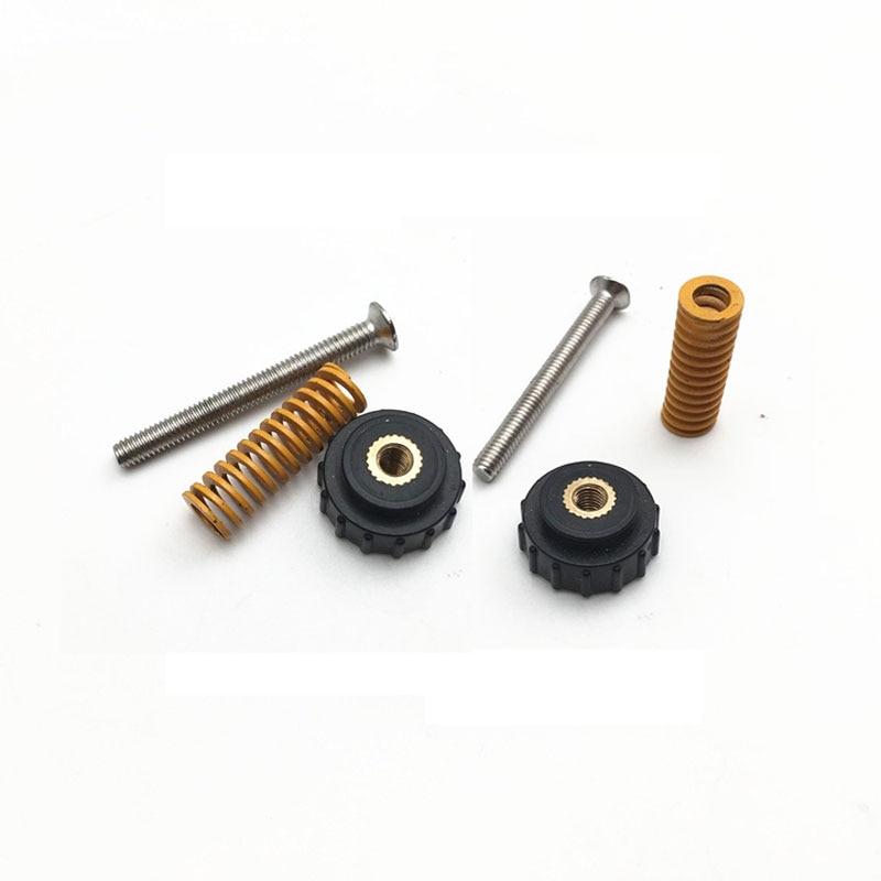 4Pcs Hot Bed Platform Knob For Creality CR-10 CR-10S 3D Printer Parts Kit Black