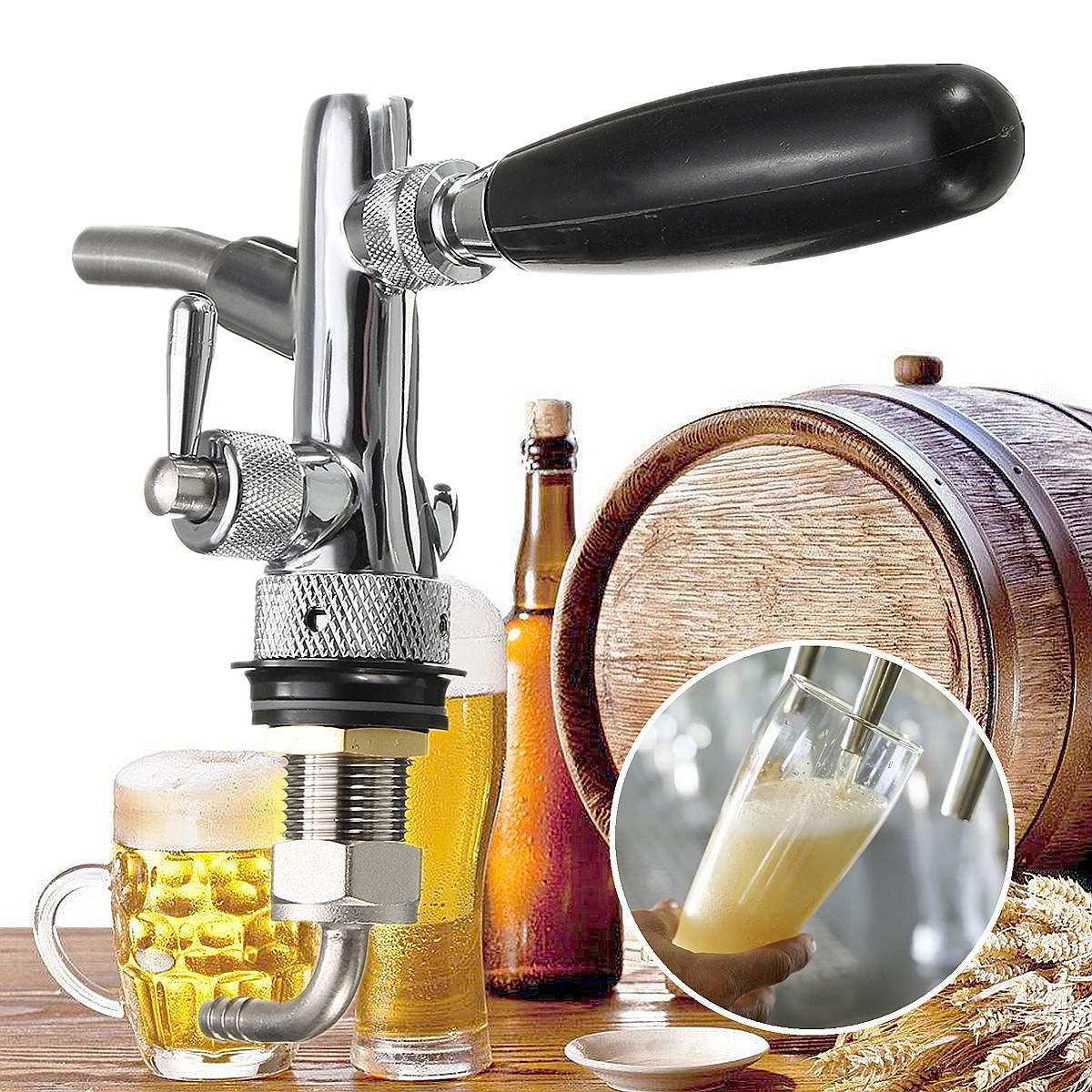 Разливный пивной кран, регулируемый дозатор для Домашнего Пива с регулятором потока для бочонка, кран для баров, отелей, ресторанов, дома G5/8