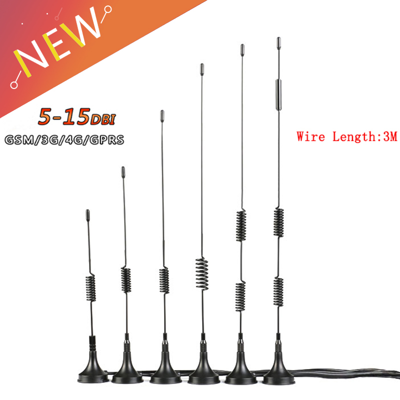 Wifi Antenna 5/6/7/9/10/15DBI Extension Cable SMA Male Connector 3G 4G High Gain Sucker Aerial For CDMA/GPRS/GSM/LTE(China)