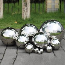 Silver Dia 19-300mm 304 Stainless Steel Hollow Ball Seamless Mirror Ball Sphere Home Yard Swimming Pool Decoration Ornaments