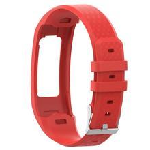 Wygodny pasek do zegarków wymiana silikonowa pasek na rękę oddychająca miękka bransoletka dla Garmin VivoFit 1 generacji 2 generacji