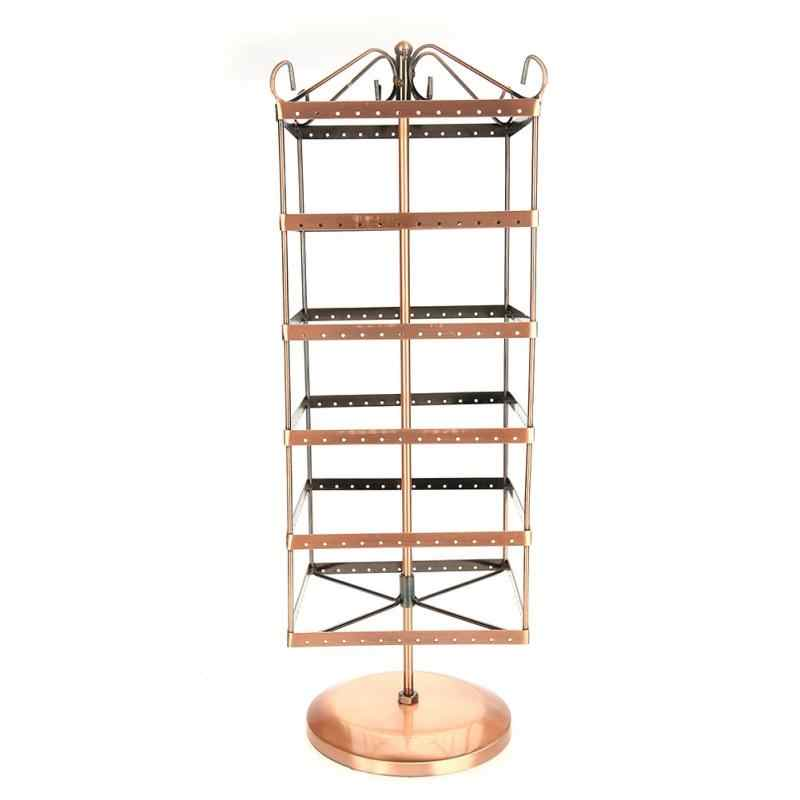 288 Holes 6-layer Square Rotatable Earrings Necklace Jewelry Display Rack
