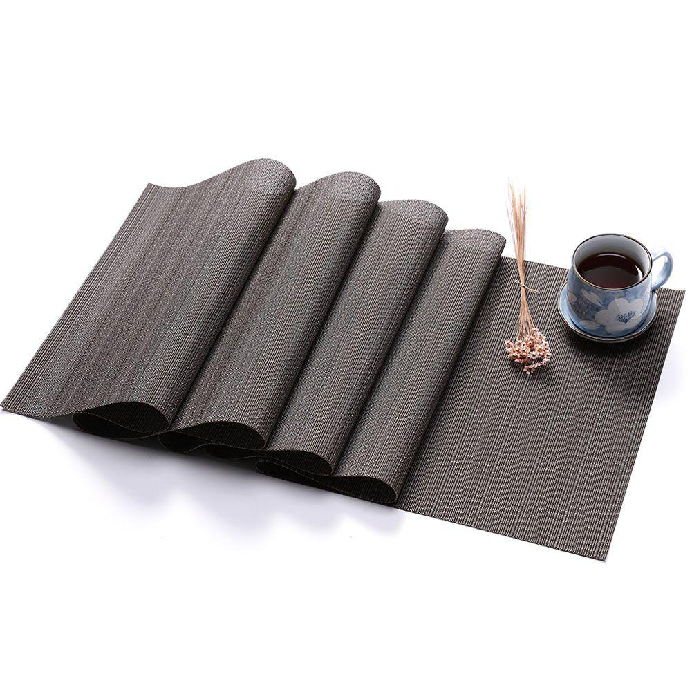 SaiDeng PVC Solid Colour Table Runner Imitation Bamboo Grain Knitted Table Cover Decoration-25