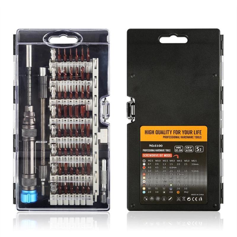 Precision Screwdriver Set 60 In 1 Multi Tool Appliance Maintenance Computer Mobile Phone Repair Hand Tools Set Chrome Vanadium